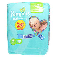 PAMPERS Baby Dry Gr.6 Extra Large 15+kg Sparpack 22 Stück - Vorderseite