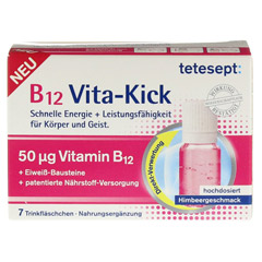 TETESEPT B12 Vita-Kick Trinkampullen 7 St�ck - Vorderseite