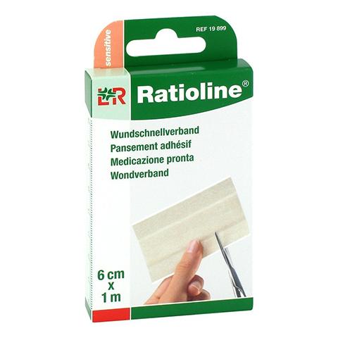 RATIOLINE sensitive Wundschnellverband 6 cmx1 m 1 Stück