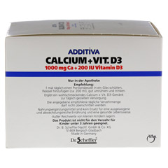 ADDITIVA Calcium 1.000 mg+Vit.D3 Pulver 40 St�ck - Linke Seite