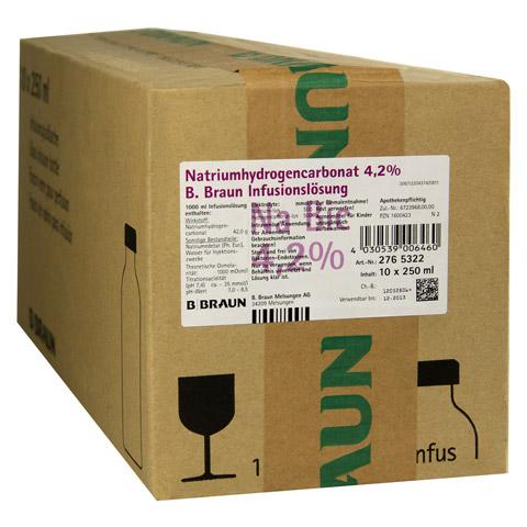 NATRIUMHYDROGENCARBONAT 4,2% Infusionslösung 10x250 Milliliter N2