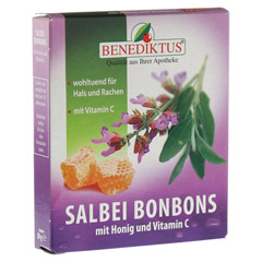 SALBEI BONBONS mit Honig und Vitamin C 50 Gramm