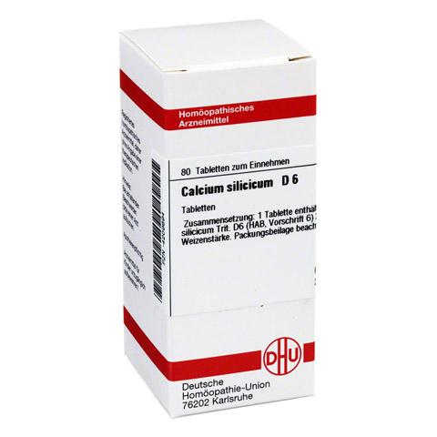 CALCIUM SILICICUM D 6 Tabletten 80 Stück N1