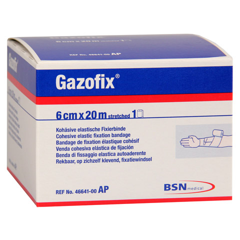 GAZOFIX Fixierbinde 6 cmx20 m hautf. 1 Stück
