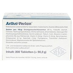 ARTHRI VERLAN Tabletten 200 Stück - Unterseite