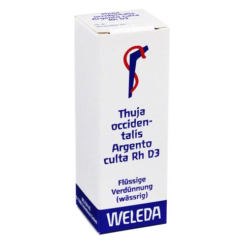 THUJA OCCIDENTALIS Argento culta Rh D 3 Dilution 20 Milliliter N1