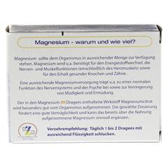 MAGNESIUM M Dragees 100 Stück - Rückseite