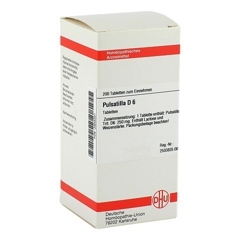 PULSATILLA D 6 Tabletten 200 St�ck N2