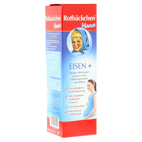 RABENHORST Rotbäckchen Mama Eisen+ Saft 450 Milliliter