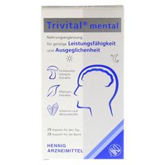 TRIVITAL mental Kapseln 56 Stück - Vorderseite