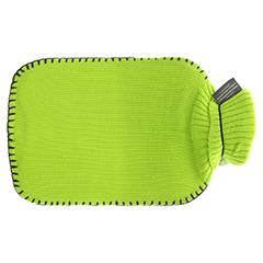 FASHY Wärmflasche mit Rollkragen Strickb.hellgrün 1 Stück - Rückseite
