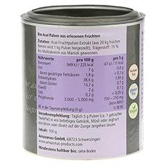 ACAI 100% natürlich Bio Pulver 100 Gramm - Linke Seite