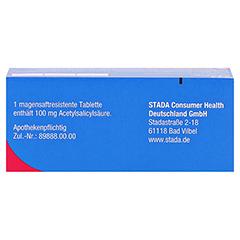 ASS STADA 100 mg magensaftresistente Tabletten 50 Stück N2 - Oberseite