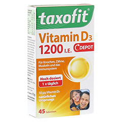TAXOFIT Vitamin D3 1200 I.E. Depot Tabletten 45 Stück