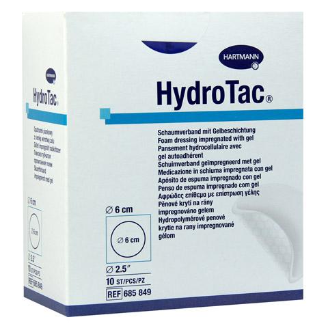 HYDROTAC Schaumverband 6 cm rund steril 10 Stück