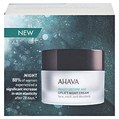 Ahava Uplift Night Cream 50 Milliliter - Rückseite