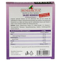 SALBEI BONBONS mit Honig und Vitamin C 50 Gramm - Rückseite