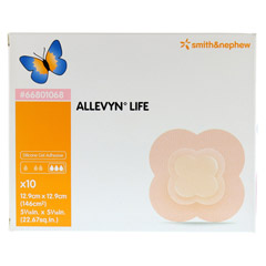 ALLEVYN Life 12,9x12,9 cm Silikonschaumverband 10 Stück - Vorderseite