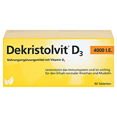 DEKRISTOLVIT D3 4.000 I.E. Tabletten 90 Stück - Vorderseite