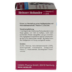 HEISSER Holunder+Vit.C+Zink Pulver 15x10 Gramm - Linke Seite