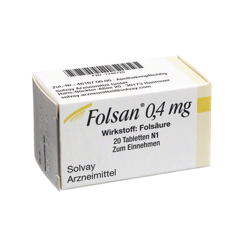 FOLSAN 0,4 mg Tabletten 20 St�ck N1