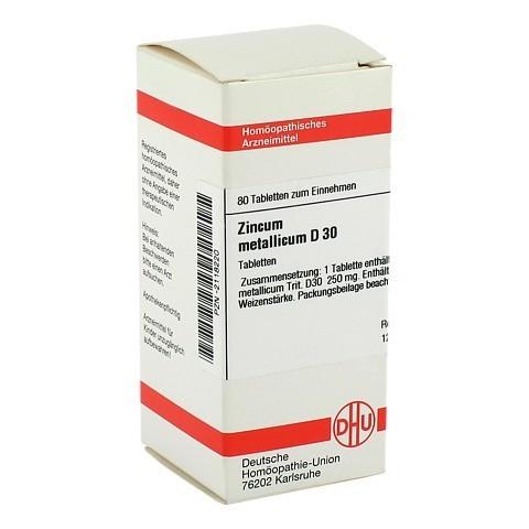 ZINCUM METALLICUM D 30 Tabletten 80 Stück