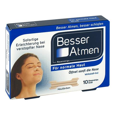 Besser Atmen Nasenstrips beige groß 10 Stück