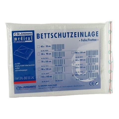 BETTSCHUTZEINLAGE Folie Frottee 200x200 cm 1 Stück