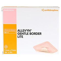 ALLEVYN Gentle Border Lite 7,5x7,5 cm Schaumverb. 10 St�ck - Vorderseite