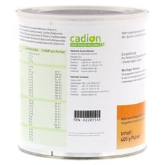 CADION Multivitaldrink+Q10 Pulver Dose 400 Gramm - Rückseite