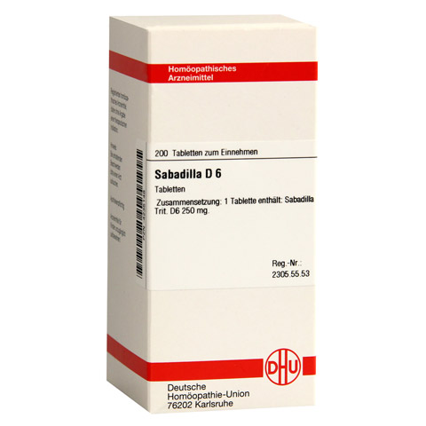 SABADILLA D 6 Tabletten 200 St�ck N2