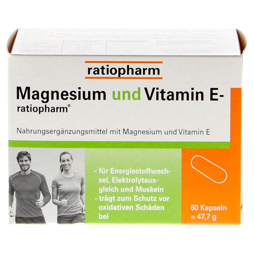 magnesium und vitamin e ratiopharm kapseln 60 st ck online. Black Bedroom Furniture Sets. Home Design Ideas