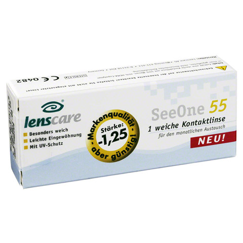 LENSCARE SeeOne 55 Monatslinse -1,25 dpt 1 Stück