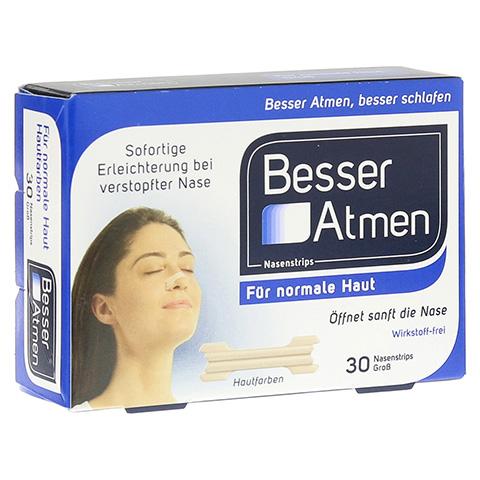 Besser Atmen Nasenstrips beige groß 30 Stück