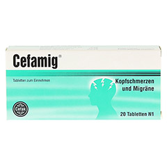 CEFAMIG Tabletten 20 Stück N1 - Vorderseite