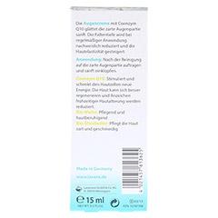 LAVERA basis sensitiv Augencreme Q10 dt 15 Milliliter - R�ckseite