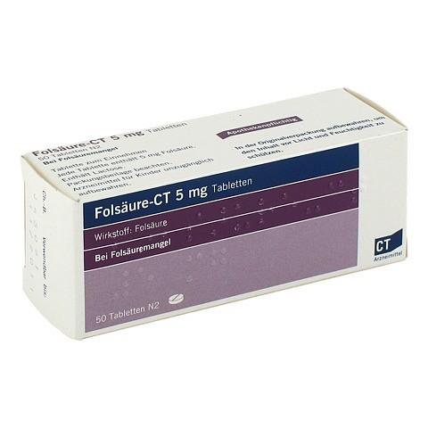 FOLSÄURE-CT 5 mg Tabletten 50 Stück N2