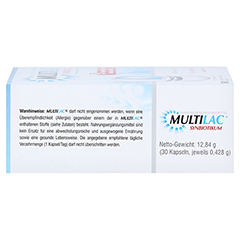 MULTILAC Synbiotikum magensaftresistente Kapseln 30 Stück - Rechte Seite