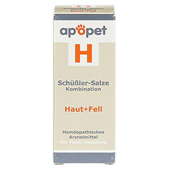 APOPET Schüßler-Salze-Kombination H ad us.vet.Gl. 12 Gramm - Vorderseite