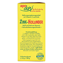 APODAY Holunder Vitamin C+Zink zuckerfrei Pulver 10x10 Gramm - Rechte Seite