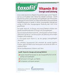 TAXOFIT Vitamin B12 Mini-Tabletten 60 Stück - Rückseite