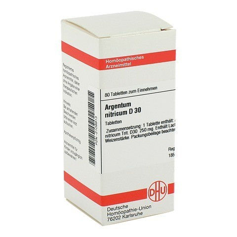 ARGENTUM NITRICUM D 30 Tabletten 80 Stück