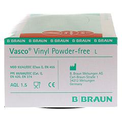 VASCO Vinyl powderfree Handschuhe unsteril Gr.L 100 St�ck - Rechte Seite