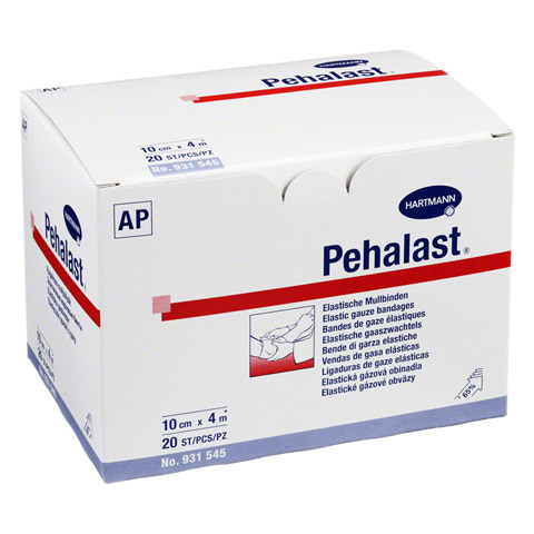 PEHA-LAST Mullbinde elastisch 10 cmx4 m lose 20 St�ck