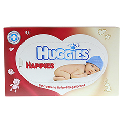 HUGGIES Happies Baby-Pflegetücher 80 Stück - Vorderseite