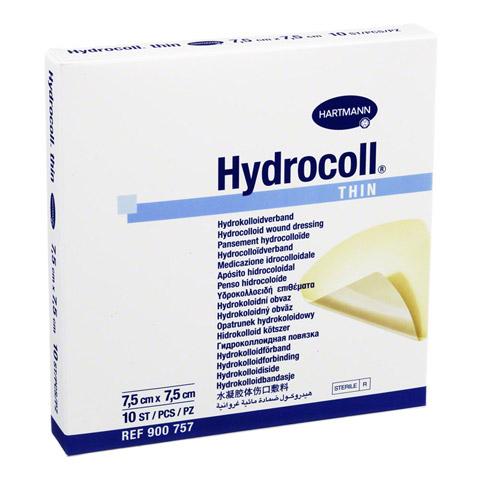HYDROCOLL thin Wundverband 7,5x7,5 cm 10 Stück