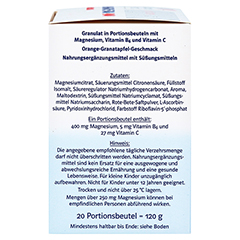 DOPPELHERZ Magnesium 400 Citrat system Granulat 20 St�ck - Rechte Seite