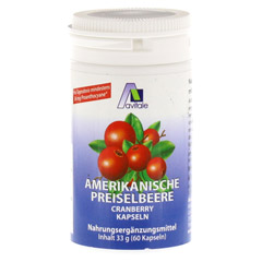PREISELBEERE amerikanisch 400 mg Kapseln 60 St�ck