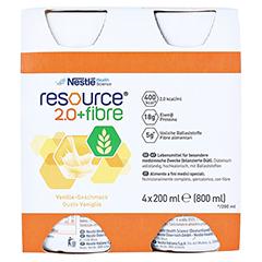 RESOURCE 2.0 fibre Vanille 4x200 Milliliter - Vorderseite