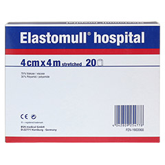 ELASTOMULL hospital 4 cmx4 m elast.Fixierb.wei� 20 St�ck - R�ckseite
